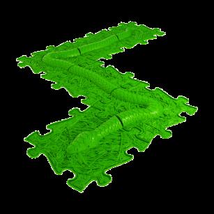 Orthopädische Strukturmatten Muffik Schlangen Set - in Grün