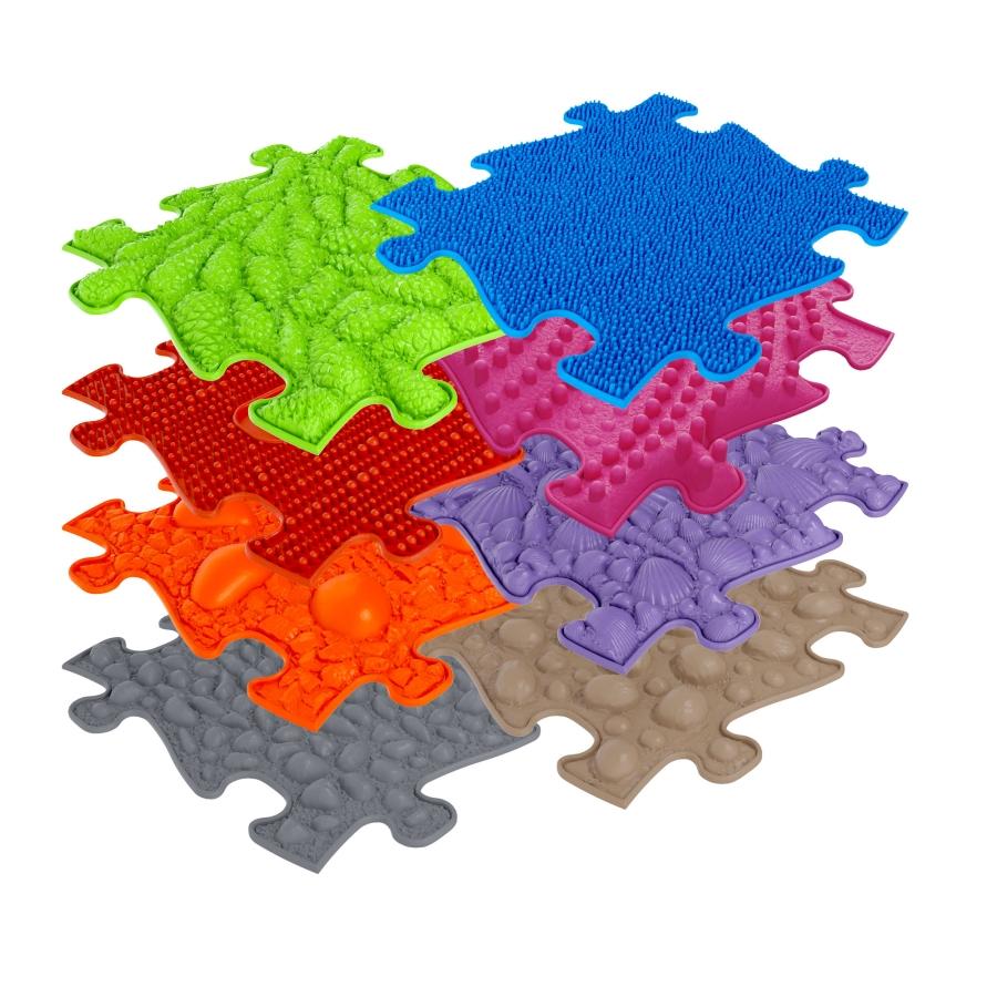 Orthopädische Strukturmatten Muffik Basic Set-1 - 8 Teile für taktile Wahrnehmung
