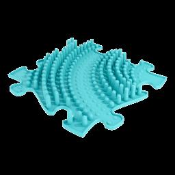 Strukturmatte Welle mit harter Oberfläche in Türkis