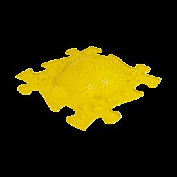 Strukturmatte Igel mit harte Oberfläche in Gelb