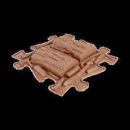 Strukturmatte Baumstamm mit harter Oberfläche in Braun