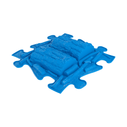 Strukturmatte Baumstamm mit harter Oberfläche in Blau